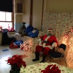 Santa at the 2013 Christmas party.